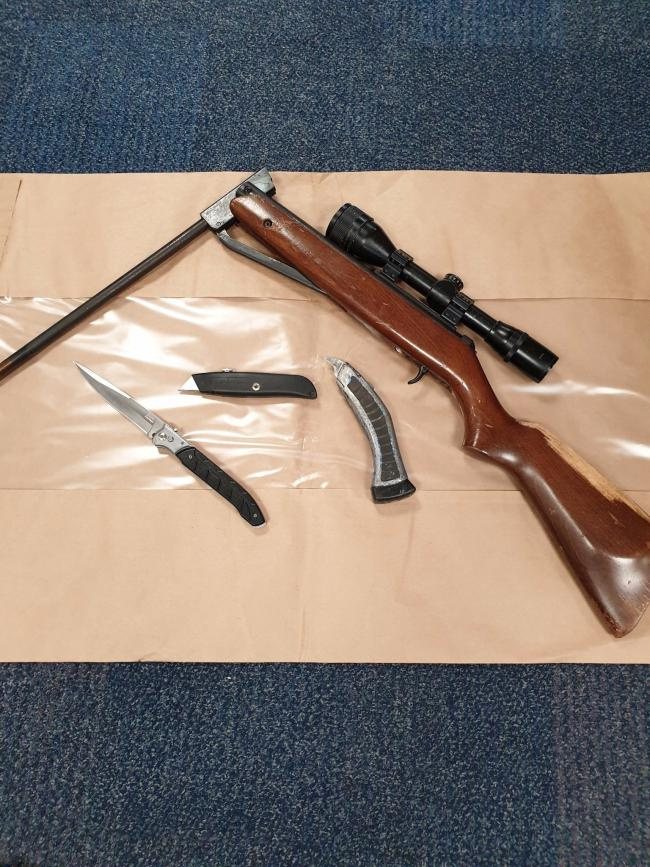 Weapons found in Burnley Road, Accrington
