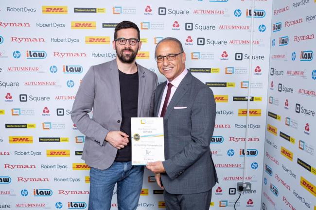 Photographer Jak Spedding with Theo Paphitis