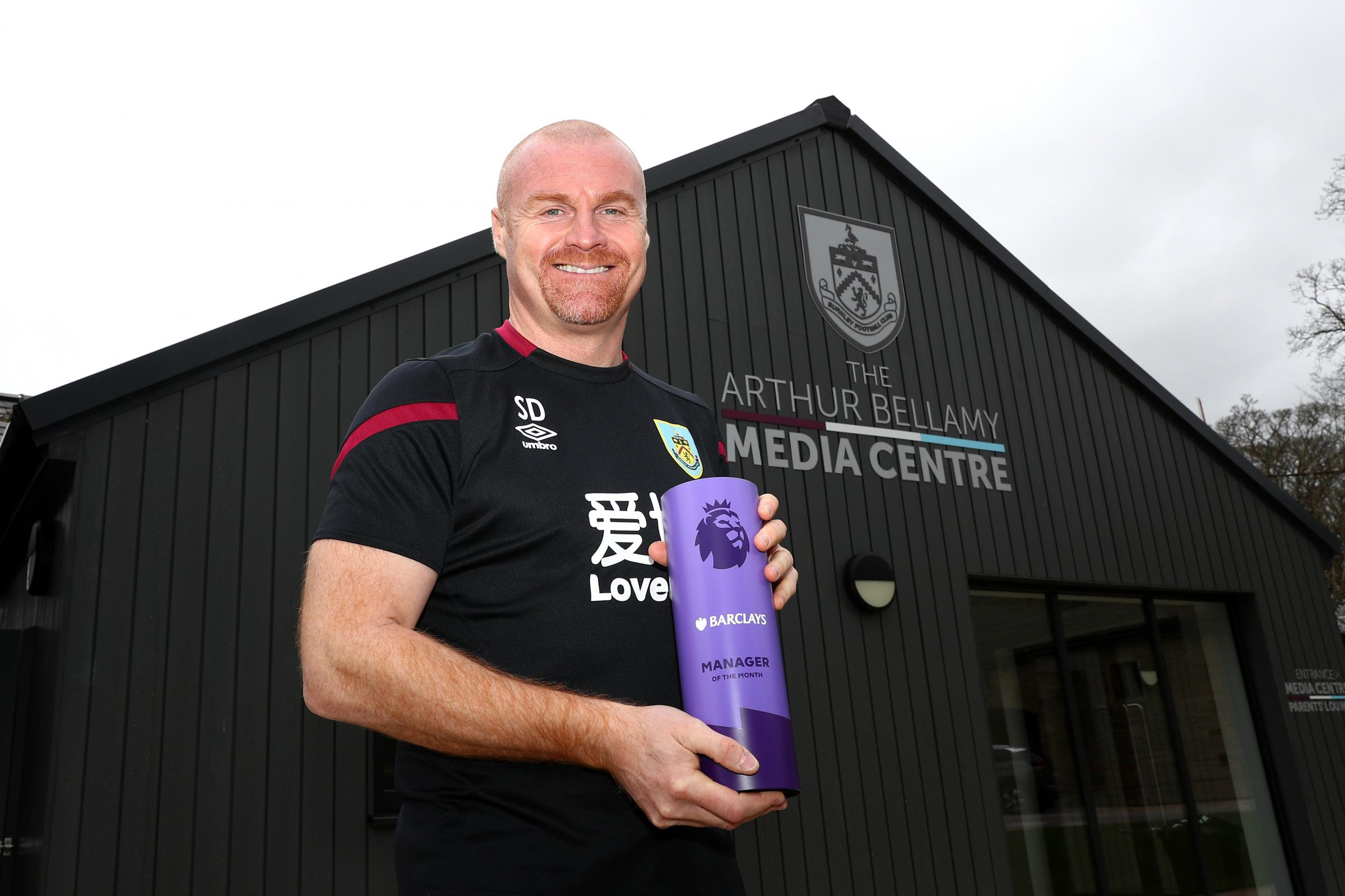 Burnley boss Sean Dyche earns Premier League manager of the month award