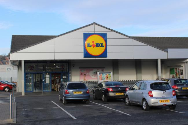 A view of the Lidl supermarket in King Street, Blackburn