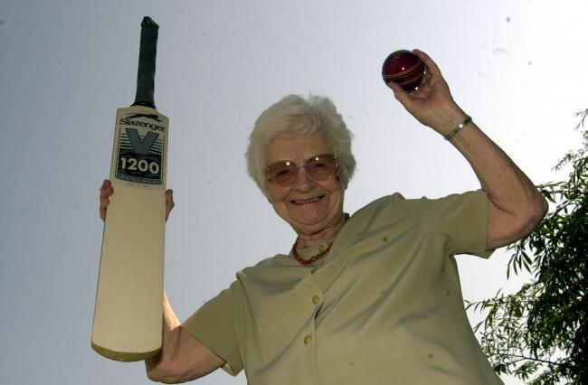 Olive Hartley who was to play cricket for Padiham at the age of 92