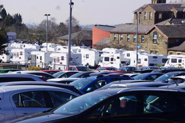 The motorhome village on the Royal Blackburn Hospital car park