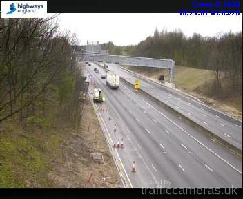 Smart motorway roadworks on the M62 finally completed. Image: Highways traffic cameras from earlier this morning