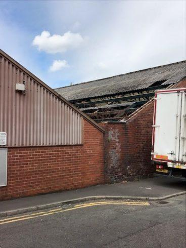 Roofers carrying out work at  Speed Drop Logistics Ltd in Blackburn were not given fall protection