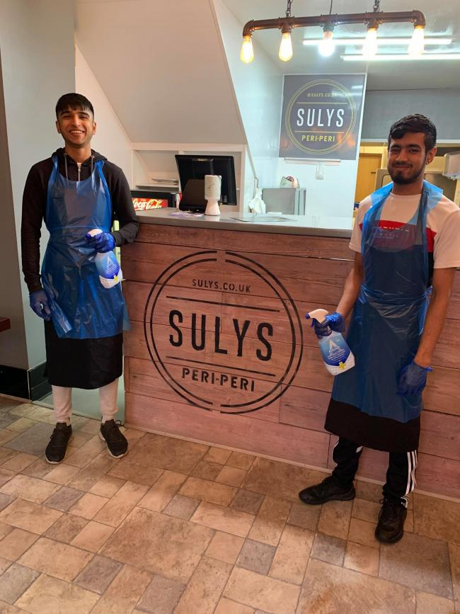 Staff at Sulys in Rishton