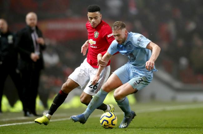 Charlie Taylor in action during Burnley's win at Manchester United in January