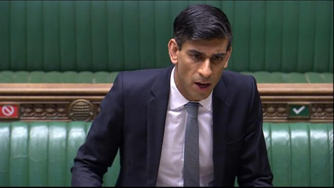 Chancellor Rishi Sunak, who is celebrating his 40th birthday today, makes a statement in the House of Commons on the government's economic package in response to the coronavirus outbreak. PA Photo. Picture date: Tuesday May 12, 2020. See PA story HEAL