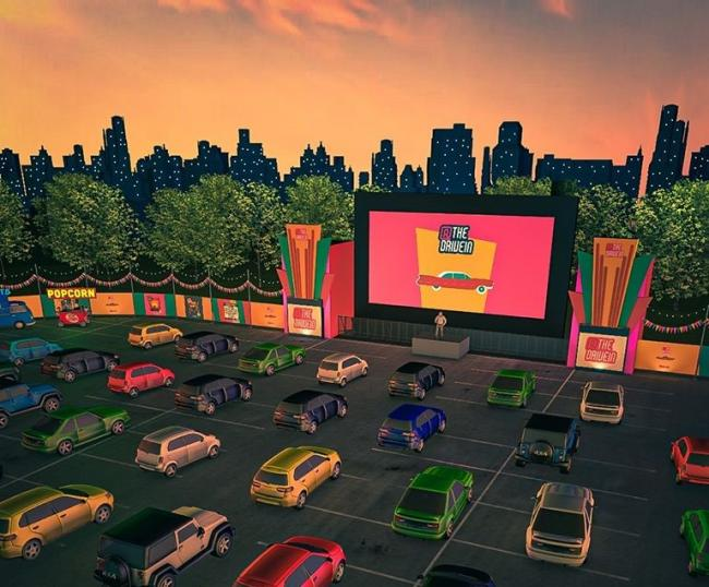 50s themed drive-in cinema set to open in Manchester this summer with roller waiters. Image:  At The Drive In