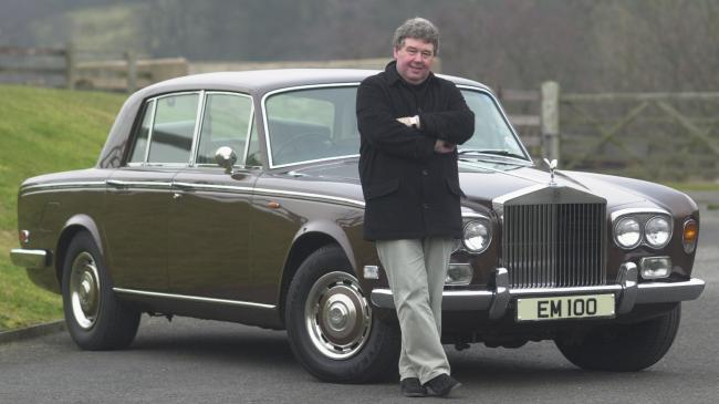 Lionel Snowden with comedy legend Eric Morecambe's Rolls Royce in 2004