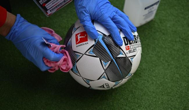 Footballs must be disinfected after each group has trained