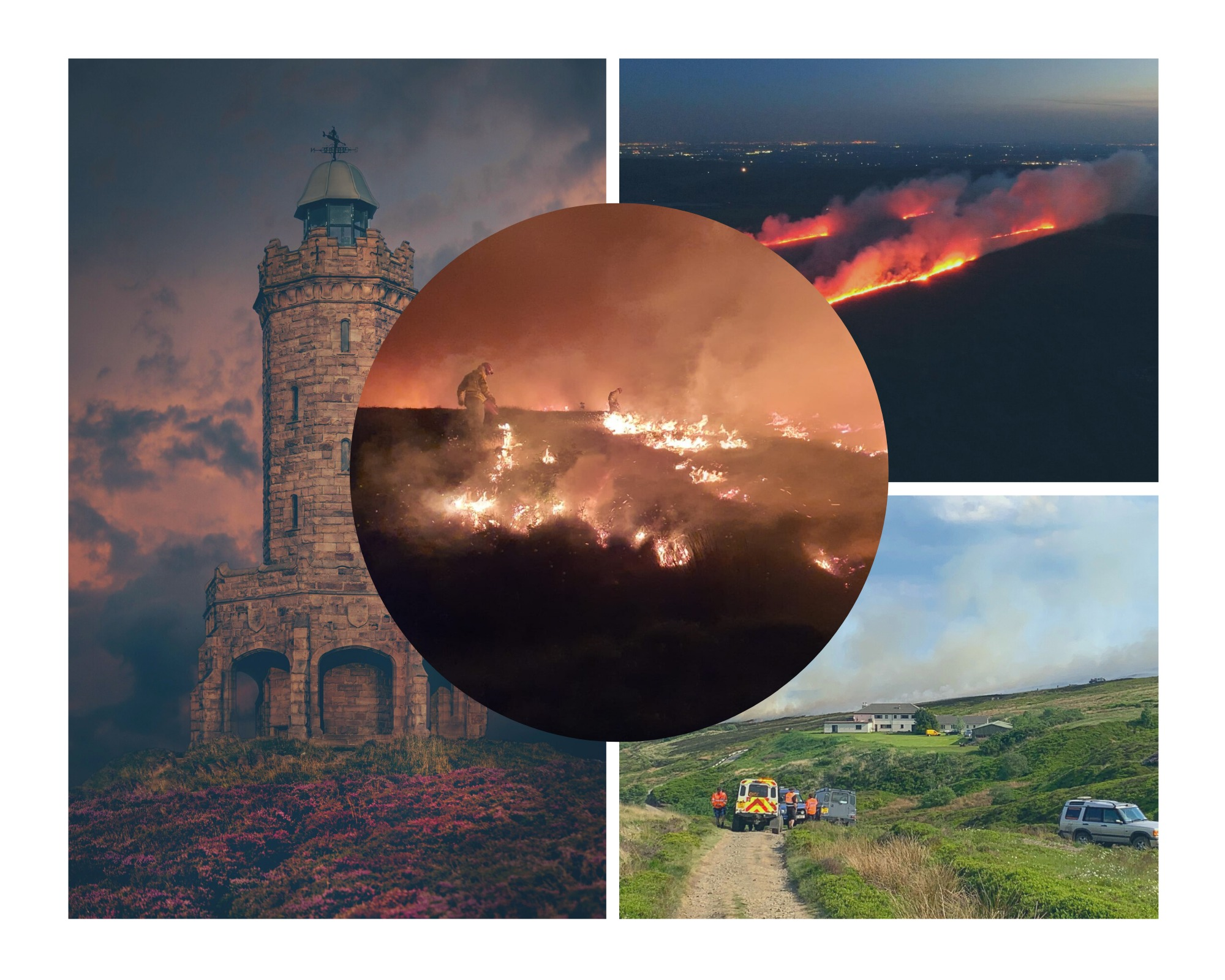 IN PICTURES - amazing images show devastation of fire ravaged Darwen Moor