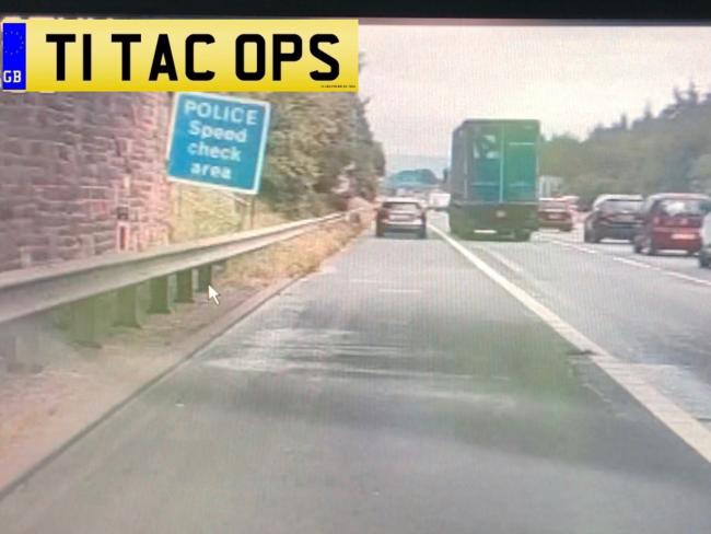 'I was running late for work' NOT an excuse to use M65 hard shoulder