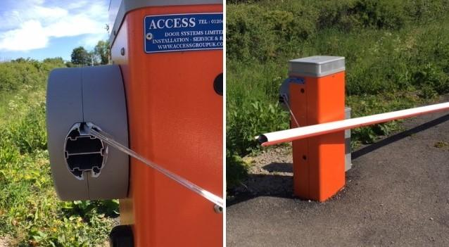 Vandals wrecked a barrier to a disabled car park in Clitheroe