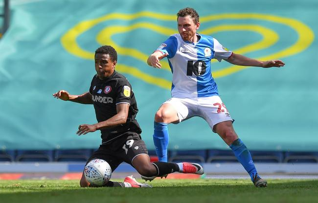 Corry Evans in action for Rovers against Bristol City at the weekend