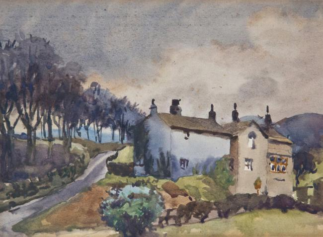 1. Darwen's finest painter, James H Morton, could turn his hand to anything. He painted this watercolour in the Edwardian era. The track to the left which winds up to Lord's Hall becomes what road? 8 letters.