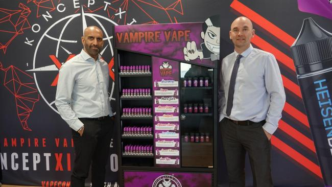 Flavour Warehouse: New chief finance and strategy officer Kanesh Khilosia with CEO Phil Boyle
