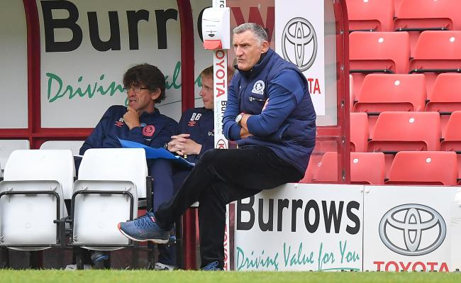 Tony Mowbray watches on as his side were beaten 2-0 at Barnsley