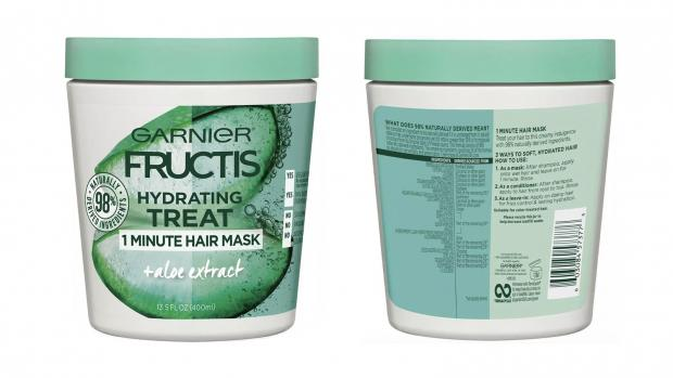 Lancashire Telegraph: Hydrate your hair with the Garnier Fructis 1 Minute Nourishing Hair Mask. Credit: Garnier
