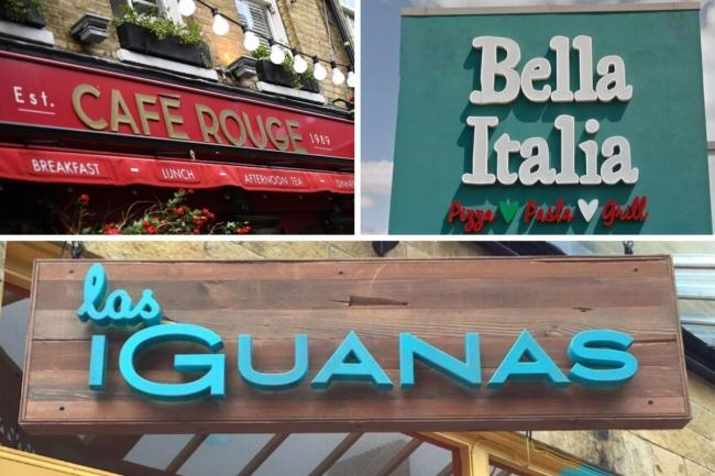 Bella Italia, Las Iguanas and Cafe Rouge: 4,000 jobs saved at restaurant chains. Picture: Newsquest