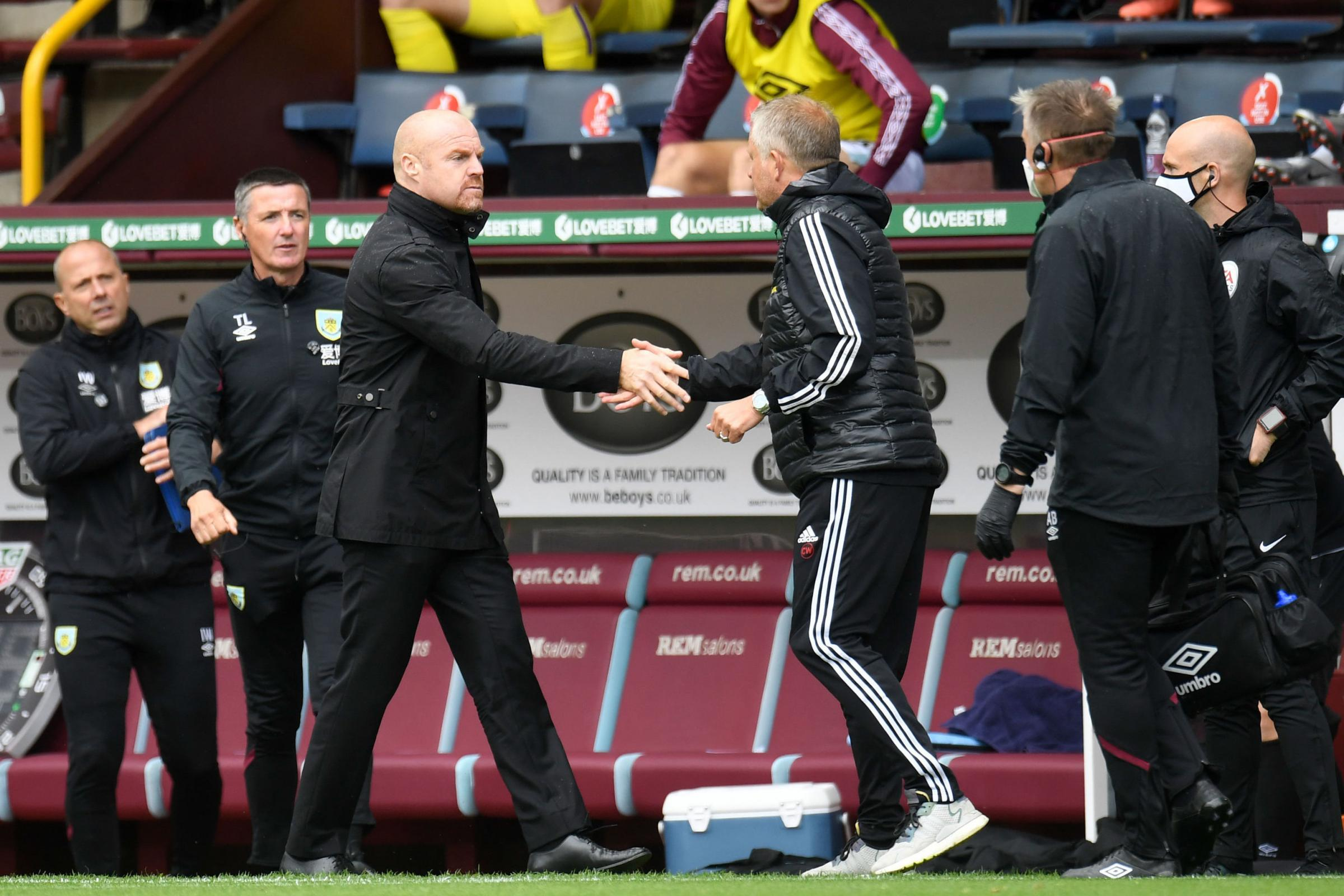 Europe is not the aim says Dyche as threadbare Clarets battle out drawW