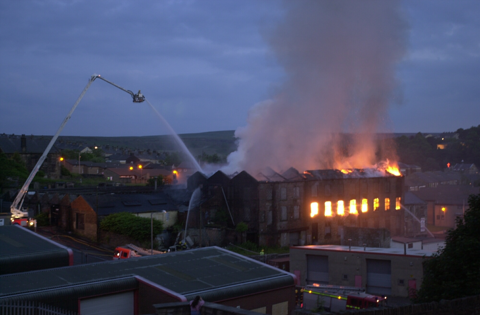 Homes were evacuated as blaze ripped through East Lancs mill