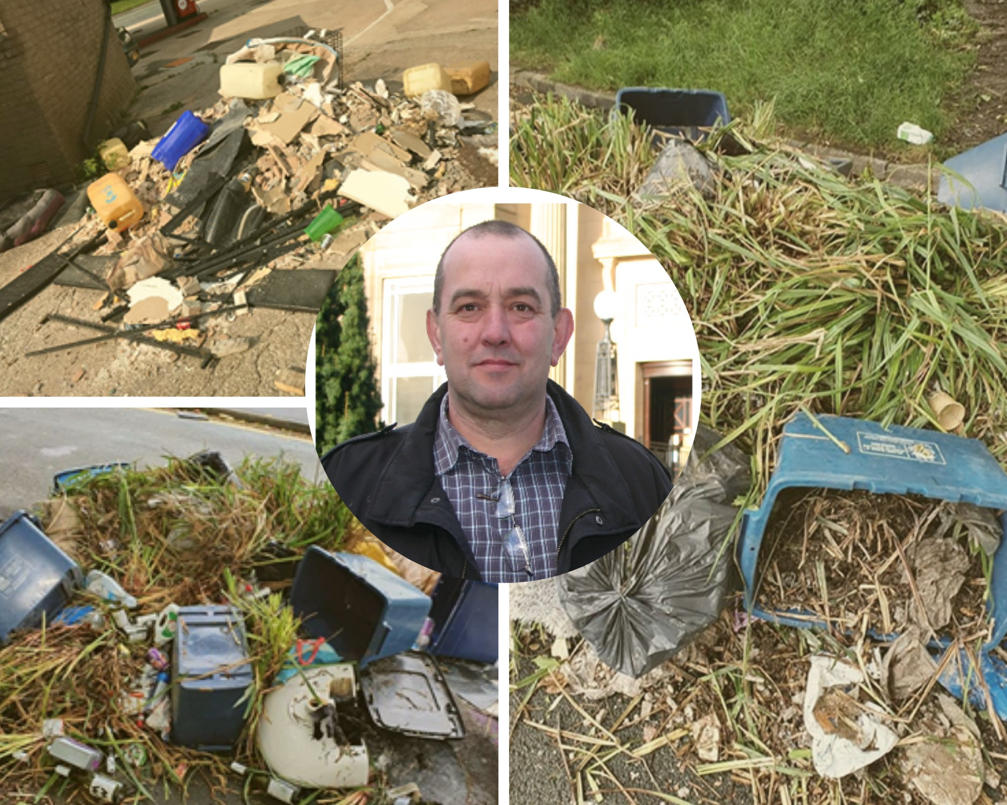 Councillor brands fly-tippers 'parasites' as rubbish strewn on town's main road