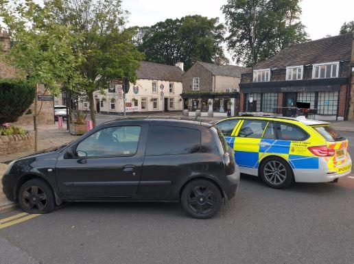 The car was 'stung' in Whalley after police chased it from Preston through the Ribble Valley