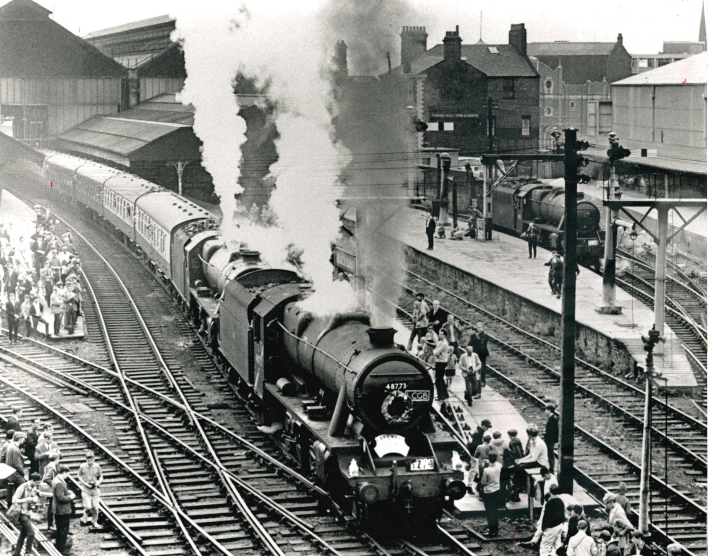 Last day of steam brought in crowds to Blackburn Station