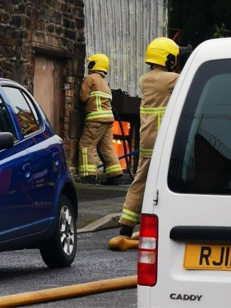 Lancashire Telegraph: Firefighters at the scene