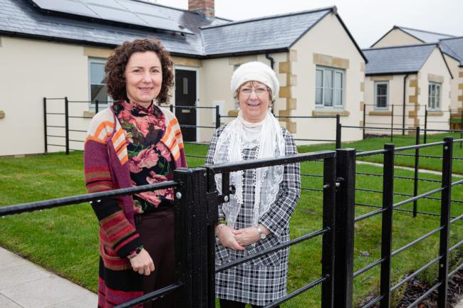 Bridget Hilton, chairman of Ribble Valley Borough Council's health and housing committee (right), with Caroline Cross, sales manager, Hillcrest Homes, at The Warren