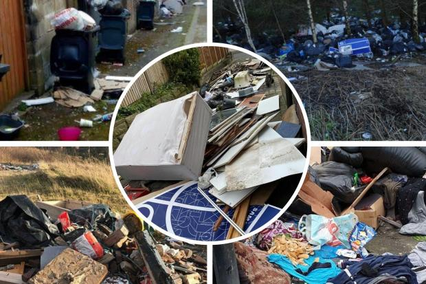 Some of the worst fly-tipping in the east of the county