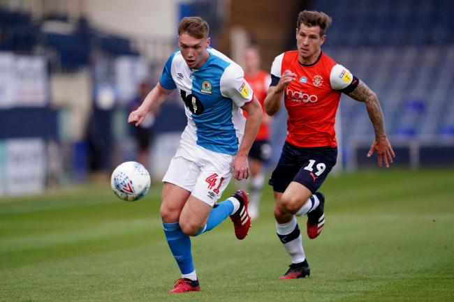 Hayden Carter unfortunately put through his own net in Rovers' defeat at Luton Town