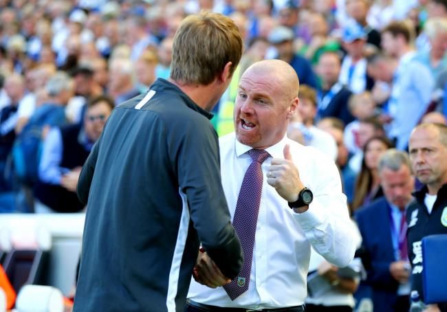 Sean Dyche and Graham Potter during the reverse fixture in September