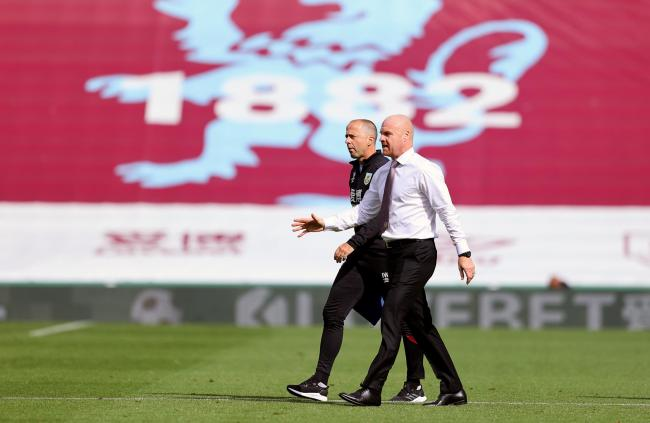 Sean Dyche and assistant Ian Woan at Turf Moor on Sunday