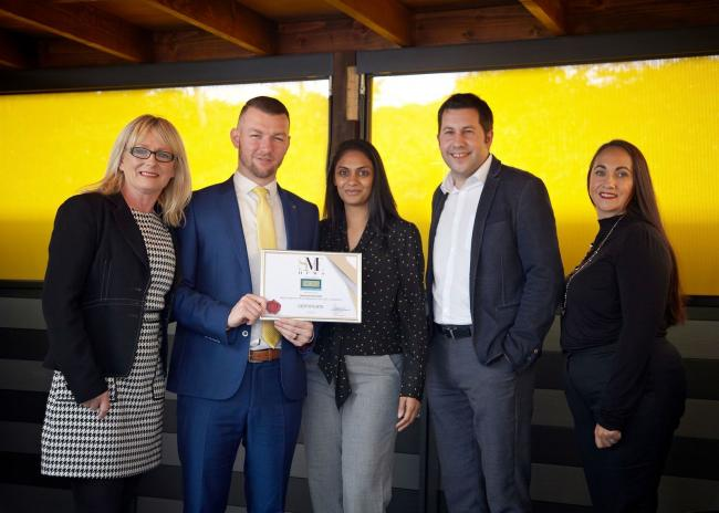 Amrita and Jason Govindji-Bruce with the rest of the team at NORI HR and Employment Law.
