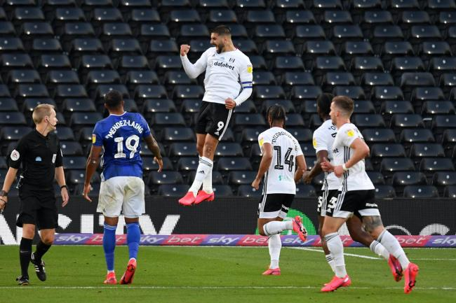 Aleksandar Mitrovic, centre, has scored more than 20 goals for Fulham during the 2019-20 Sky Bet Championship season