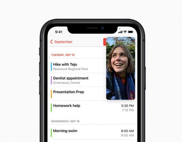 Lancashire Telegraph: With Picture-in-Picture, users can watch a video or take a FaceTime call while using another app. Picture: Apple