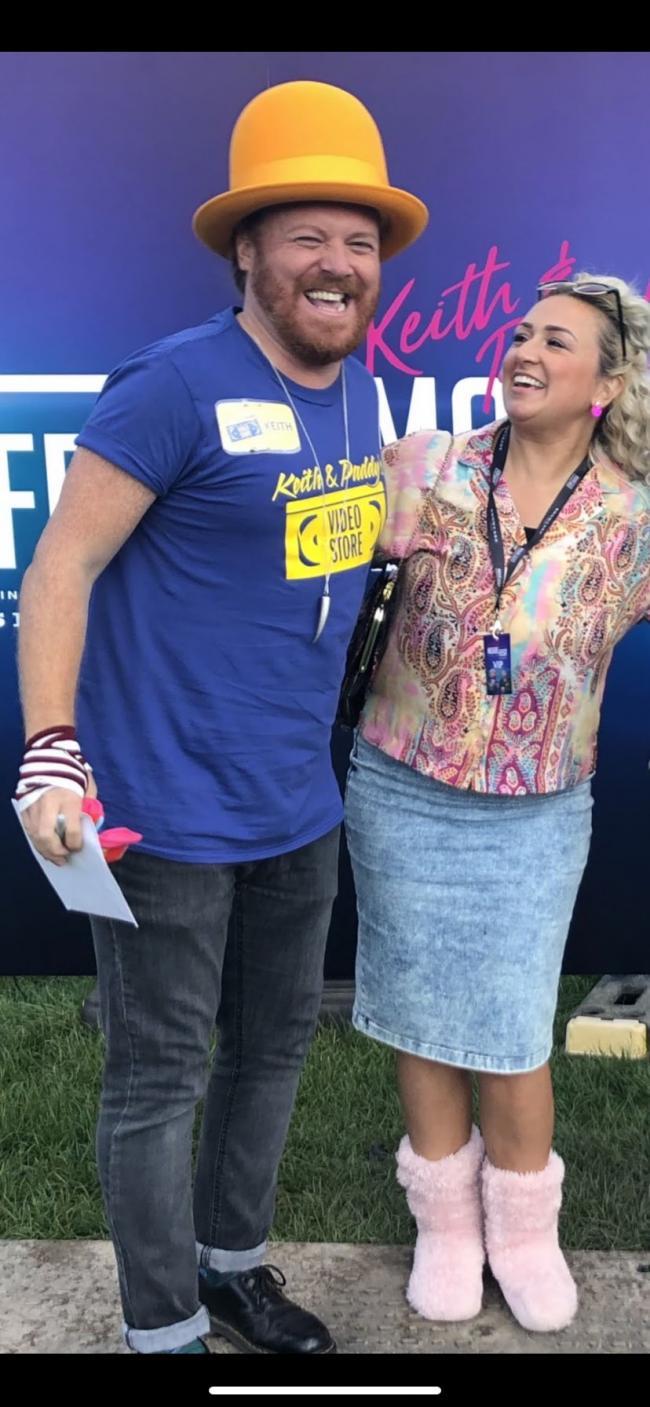 SAY CHEESE: Lancashire Telegraph community editor Simone O'Kane with Keith Lemon