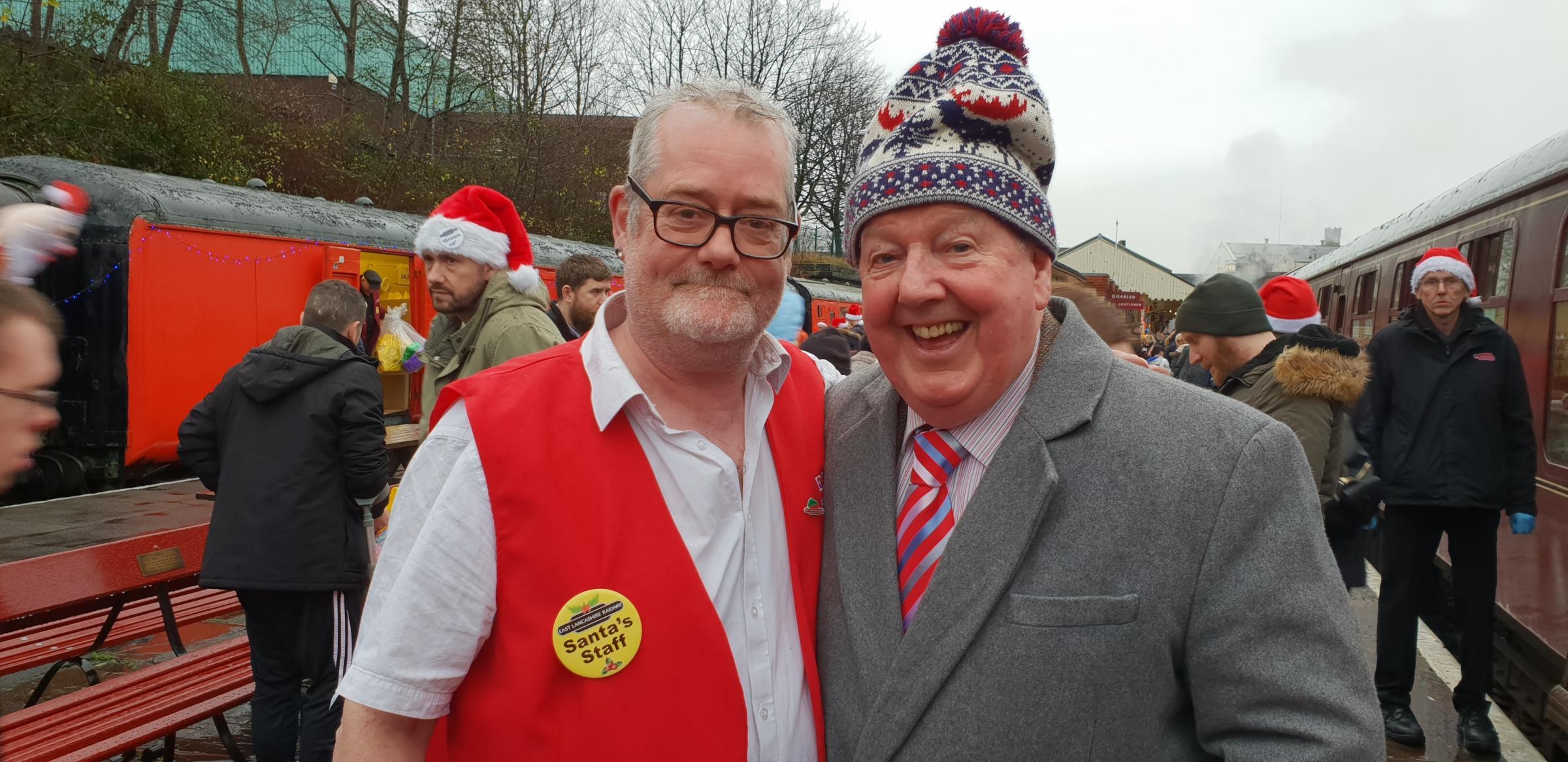 Lancashire Telegraph: Peter Floyd and Ken Dodd