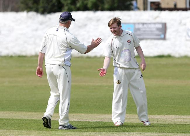 Eddie Steinson (right) scored an important 55 runs as leaders Ribblesdale Wanderers won at Whalley