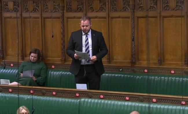 Antony Higginbotham in the House of Commons