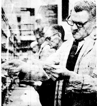 POST HASTE: Mr H Hargreaves, of Brierfield, at work at the first-class mail sorting shelves at Burnley's new office