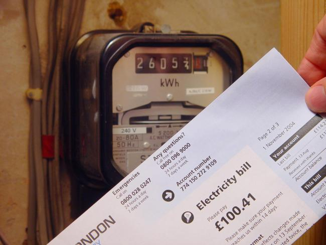 PA file photo dated 05/11/2004 of an electricity bill and an electricity meter. PRESS ASSOCIATION Photo. Issue date: Saturday April 28, 2007. Energy firms were accused today of failing to encourage low-income customers to switch to the cheapest possible t