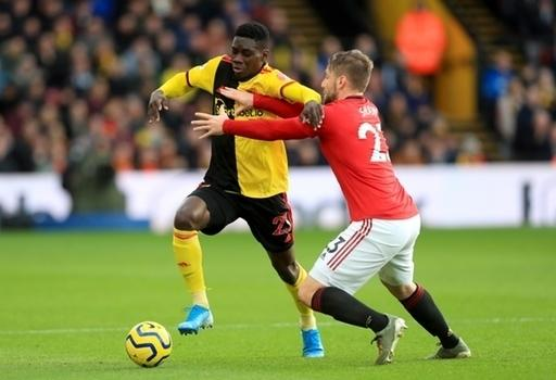 Watford's Ismaila Sarr (left) in action against Manchester United last season has been linked with a move to Old Trafford