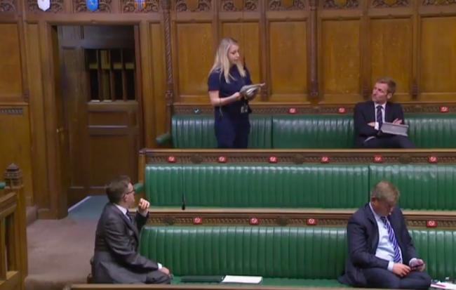 Sara Britcliffe in the House of Commons