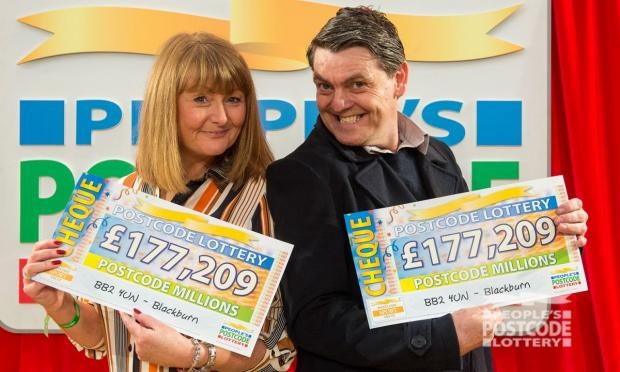 Lancashire Telegraph: Sarah Slater and Stephen Mason (Photo: People's Postcode Lottery)