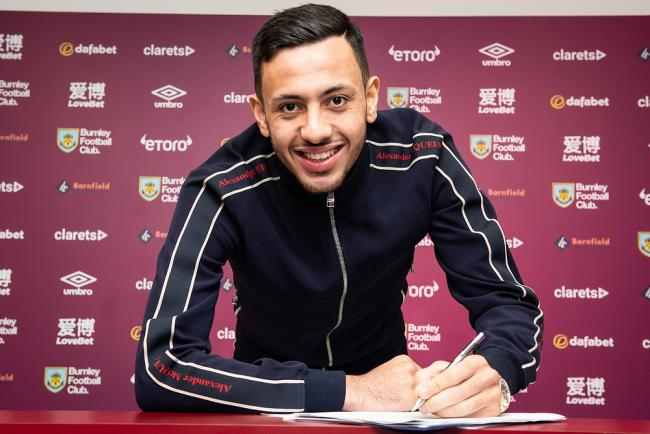 Dwight McNeil puts pen to paper with Burnley. Picture: Burnley FC