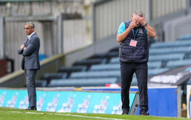 Tony Mowrbay shows his frustration during Rovers' defeat at home to Nottingham Forest