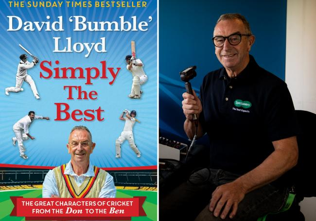 "Cricket legend David ""Bumble"" Lloyd and his new book 'Simply The Best'"