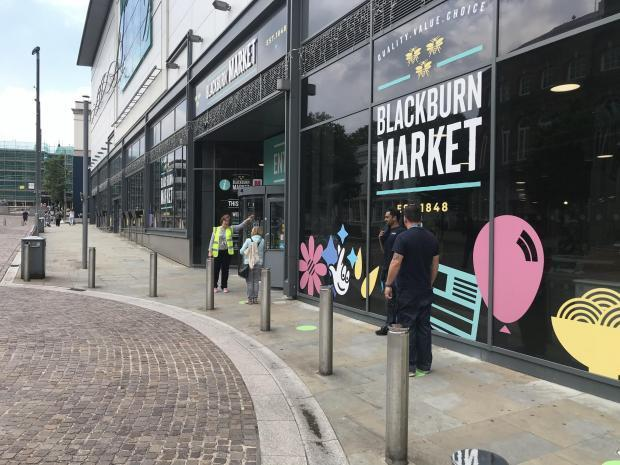 Socially-distanced shopping is the new normal in Blackburn